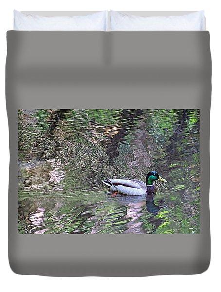 Duck Patterns Duvet Cover by Suzy Piatt