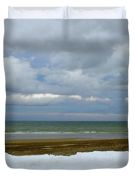 Duxbury Beach 3rd Crossover Duvet Cover