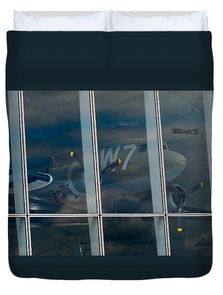 Duvet Cover featuring the photograph Duxford Dakota Daydream by Gary Eason