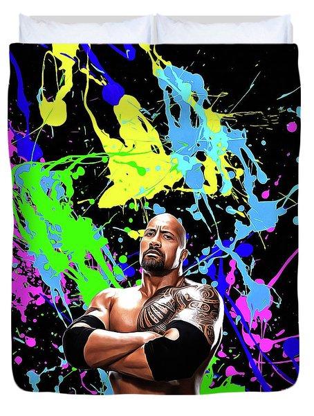 Dwayne Johnson - Celebrity Art Duvet Cover
