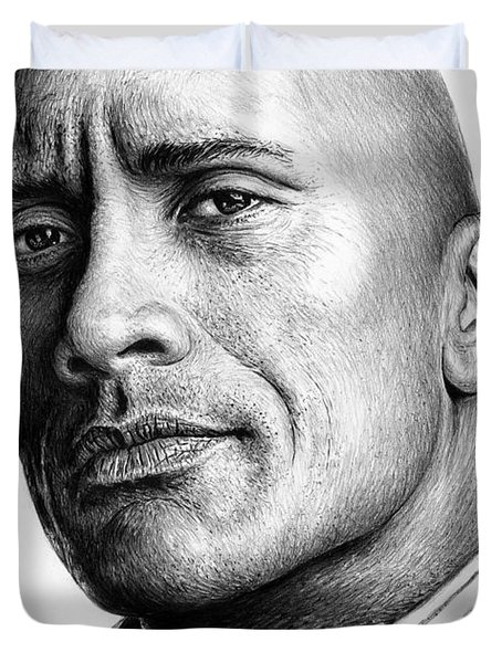 Dwayne The Rock Johnson Duvet Cover