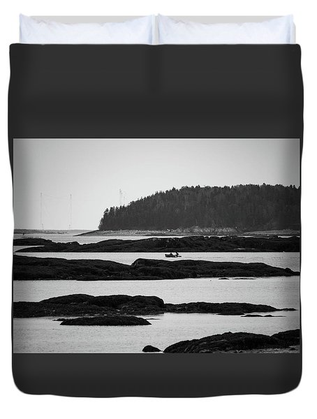 Dwon East Maine  Duvet Cover