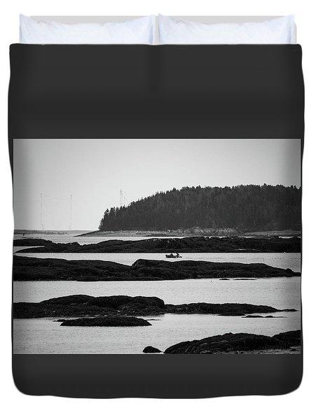 Dwon East Maine  Duvet Cover