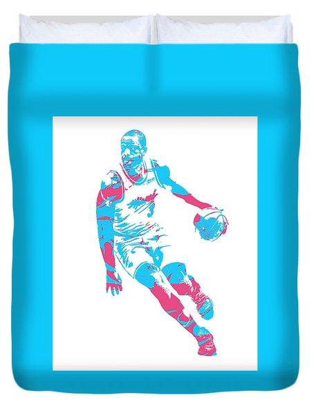 Dwyane Wade Miami Heat Pixel Art 40 Duvet Cover