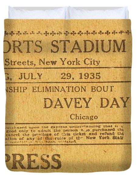Dyckman Oval Ticket Duvet Cover