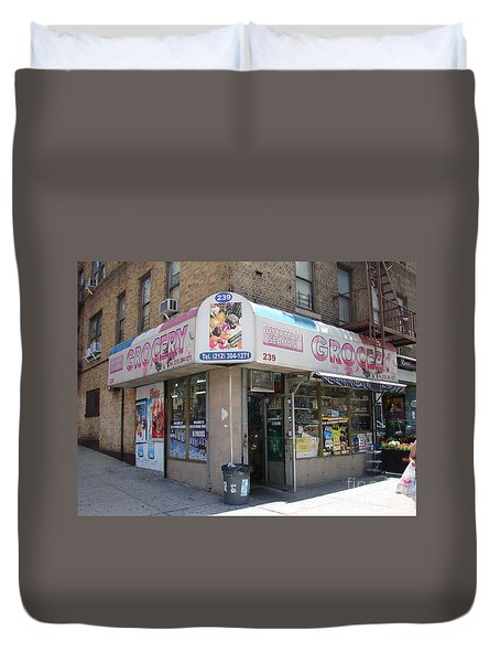 Dyckman Seaman Grocery  Duvet Cover by Cole Thompson
