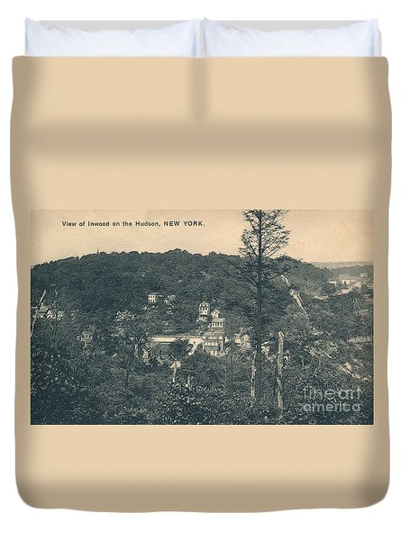 Dyckman Street At Turn Of The Century Duvet Cover