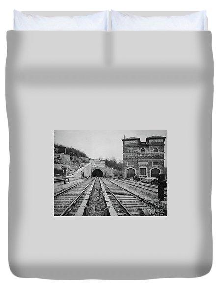 Dyckman Street Station Duvet Cover