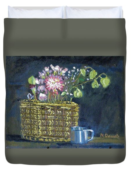 Dying Flowers Duvet Cover by Michael Daniels