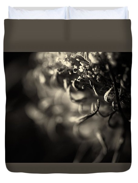 Faded Chrysanthemum Flower Abstract Print Duvet Cover