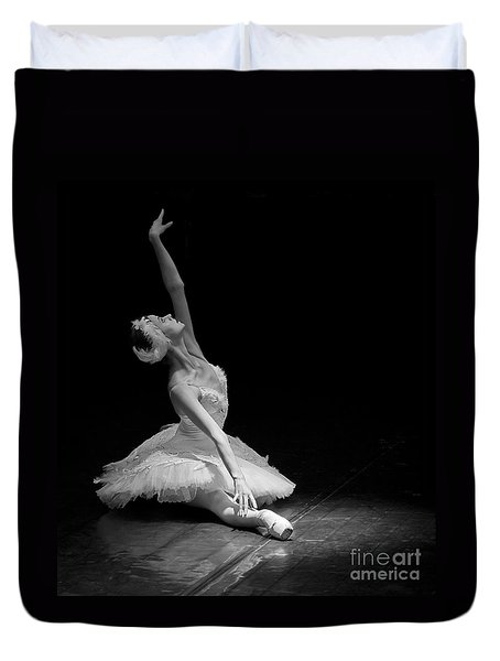 Dying Swan II. Duvet Cover by Clare Bambers