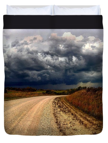 Dying Tornadic Supercell Duvet Cover