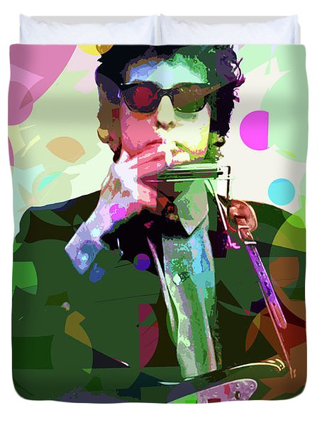 Dylan In Studio Duvet Cover