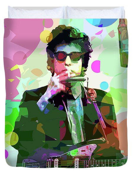 Dylan In Studio Duvet Cover by David Lloyd Glover