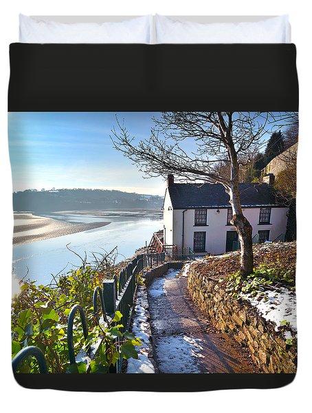 Dylan Thomas Boathouse 1 Duvet Cover
