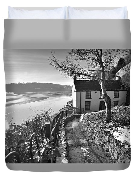 Dylan Thomas Boathouse 1b Duvet Cover