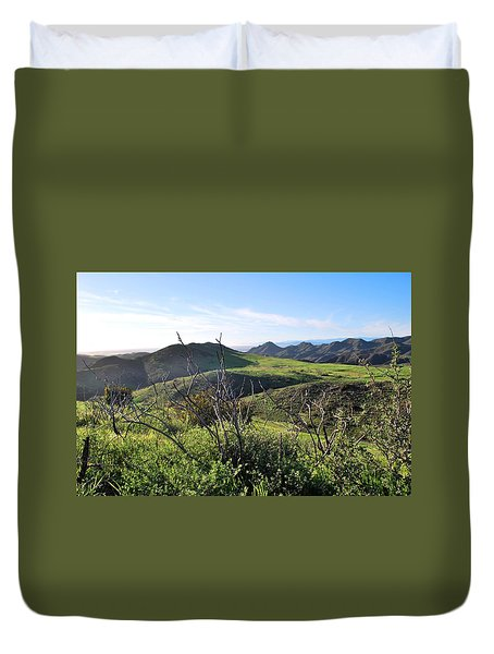 Duvet Cover featuring the photograph Dynamic California Landscape by Matt Harang