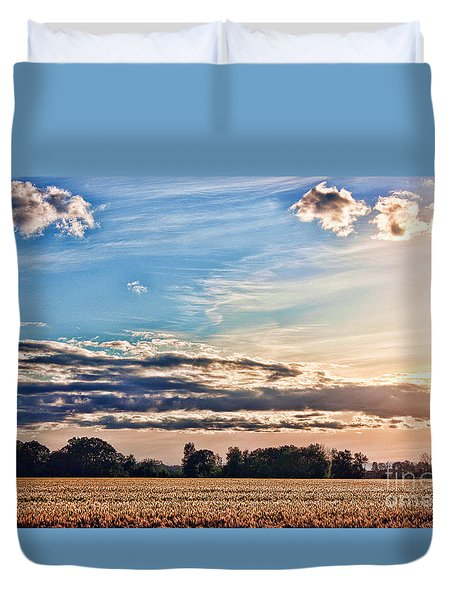 Dynamic Wheat Field Duvet Cover by Erica Hanel