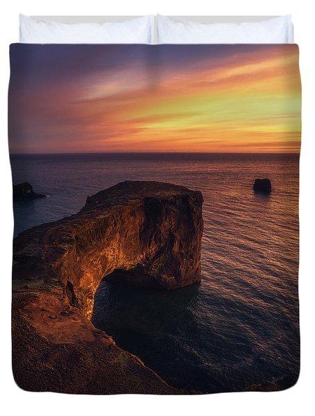 Dyrholaey Sunset Duvet Cover