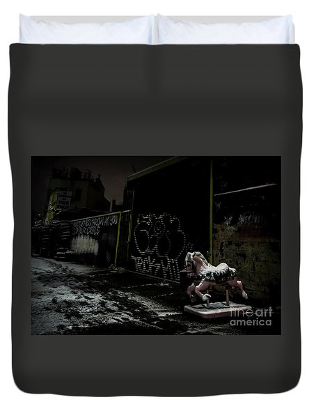 Dystopian Playground 1 Duvet Cover by James Aiken