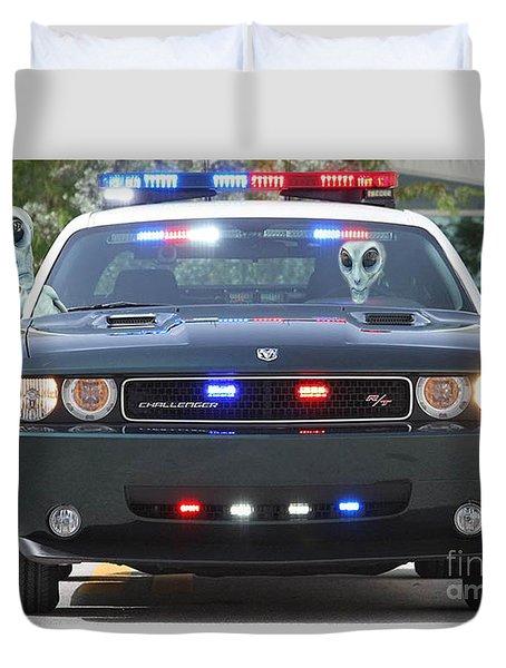 E T Cops Duvet Cover