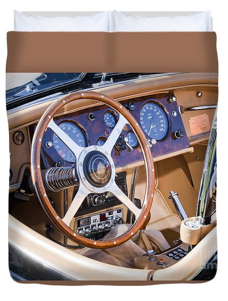 E-type Jaguar Dashboard Duvet Cover