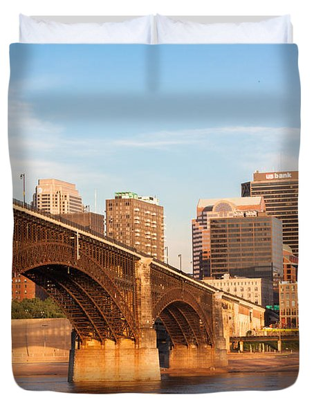 Eads Bridge At St Louis Duvet Cover