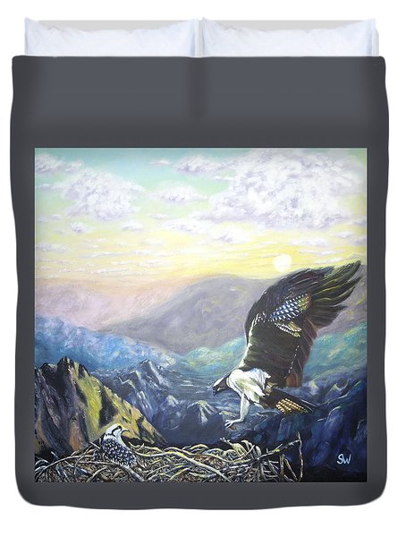 Eagle At Home Duvet Cover