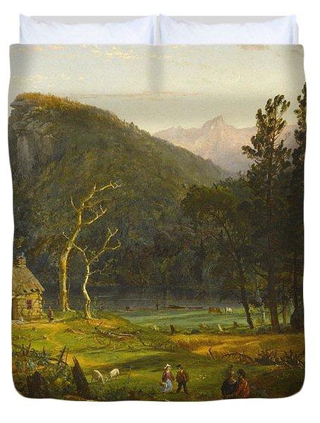 Eagle Cliff, Franconia Notch, New Hampshire Duvet Cover