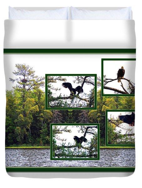 Eagle Collage Duvet Cover by Teresa Schomig