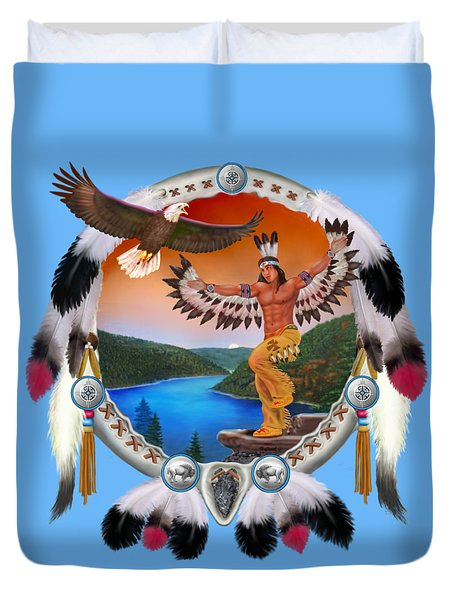 Eagle Dancer Duvet Cover by Glenn Holbrook