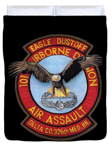 Eagle Dustoff Duvet Cover by Bill Richards