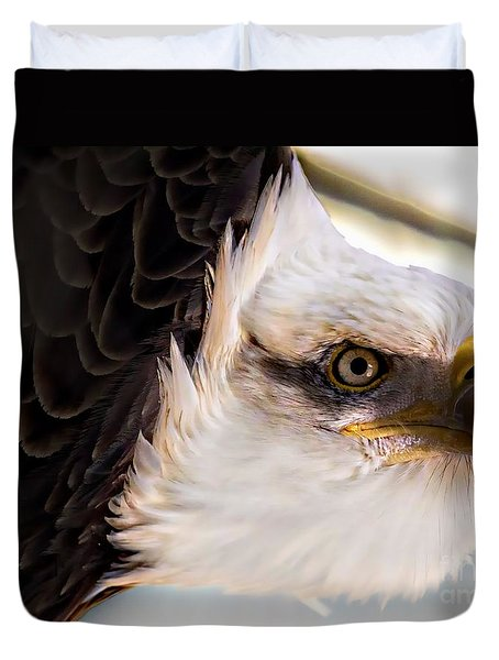 Eagle Eye Duvet Cover by Sherman Perry