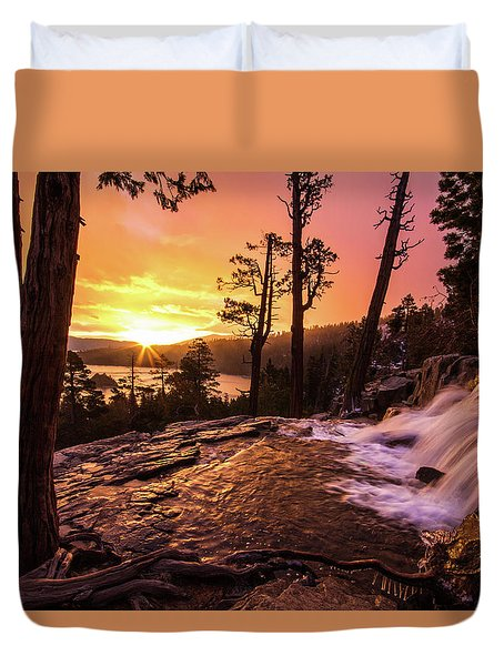 Eagle Falls Sunrise Duvet Cover