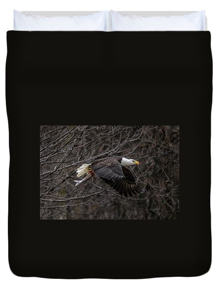 Eagle Fisher Duvet Cover by Ray Congrove