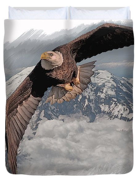 Eagle Flight 6 Duvet Cover