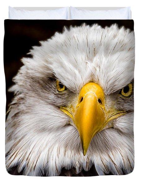 Defiant And Resolute - Bald Eagle Duvet Cover