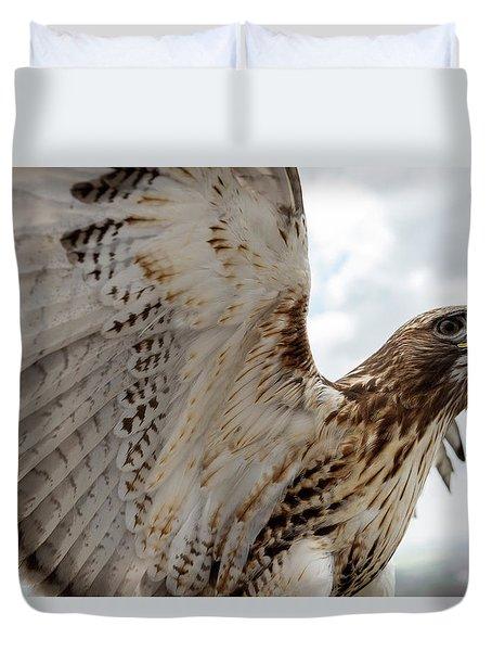 Eagle Going Hunting Duvet Cover
