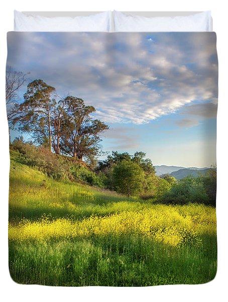Eagle Grove At Lake Casitas In Ventura County, California Duvet Cover