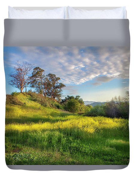 Eagle Grove At Lake Casitas In Ventura County, California Duvet Cover