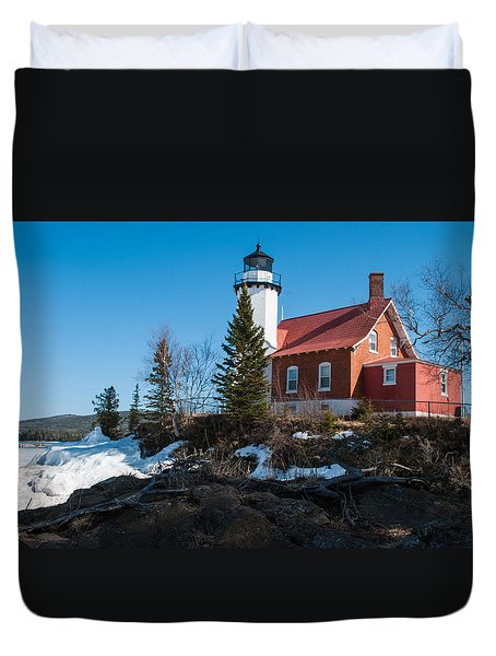 Eagle Harbor Lighthouse - Lake Superior  No. 7145 Duvet Cover