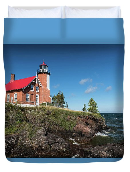 Eagle Harbor Lighthouse Duvet Cover