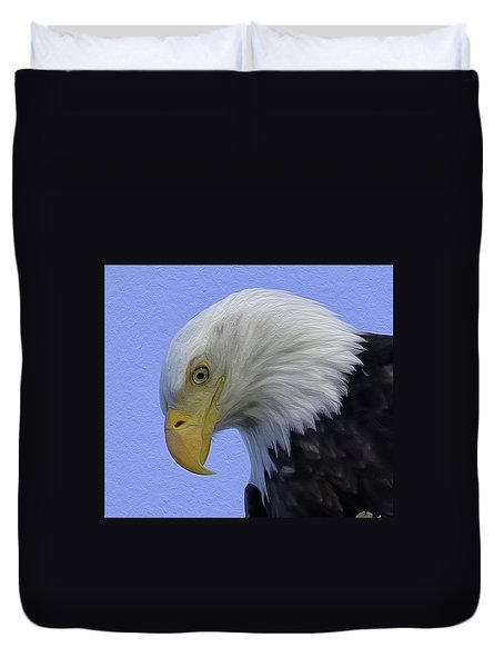 Eagle Head Paint Duvet Cover