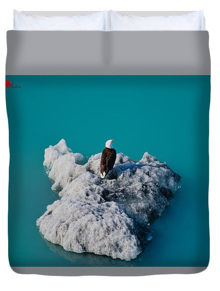 Eagle Ice Duvet Cover