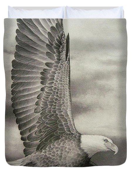 Eagle In Flight 1 Duvet Cover