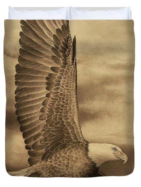 Eagle In Flight 2 Duvet Cover