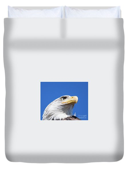 Duvet Cover featuring the photograph Eagle by Jim  Hatch