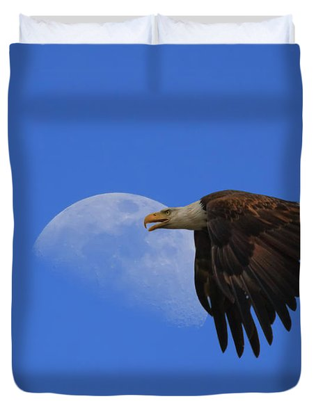 Eagle Moon Duvet Cover