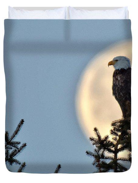 Eagle Moon Duvet Cover