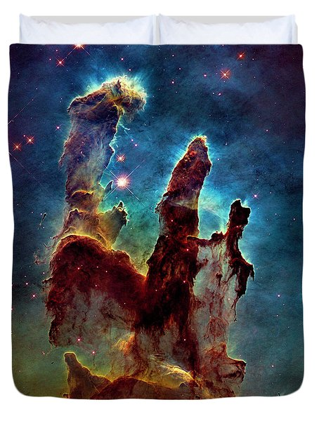 Eagle Nebula Pillars Of Creation Duvet Cover